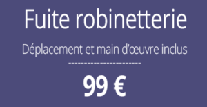 tarif fuite d'au, plombier Paris 13