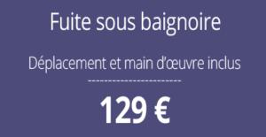 tarif fuite d'eau, plombier Paris 8