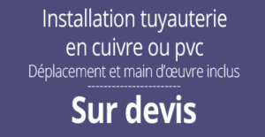 tarif installation plomberie, Paris 16
